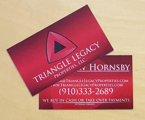 Triangle Legacy Business Cards