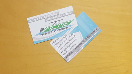 ACME Boat Works Business Cards
