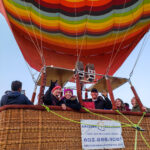 Happy Hot Air Balloon Passengers
