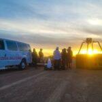 Sunset After Hot Air Balloon Flight