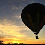hot air balloon shadow