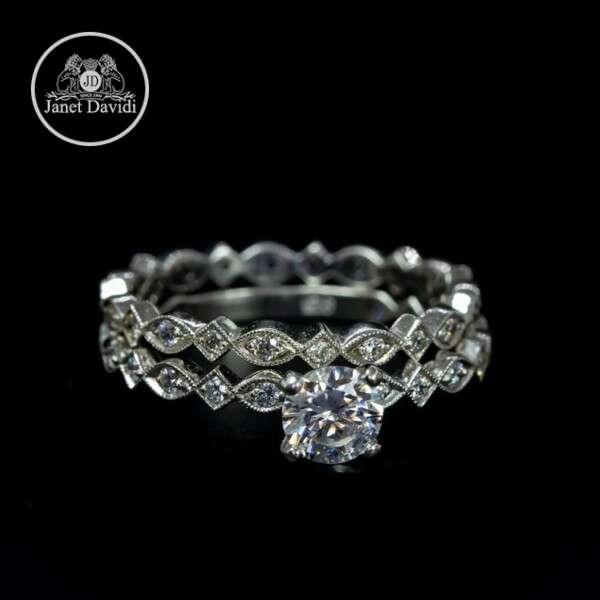 Narrow Wedding Set Ring