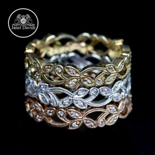 Mill Grained Eternity Wedding Ring
