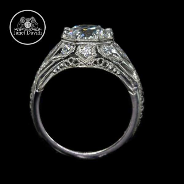 White Gold Diamond Octagon Shape