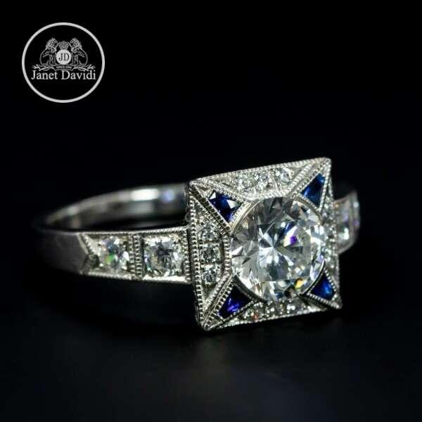 High Polish Bezel Engagement Ring