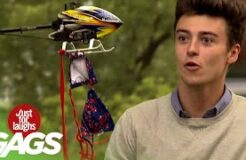 Remote-Controlled Helicopter Pulls Off Bikini Top