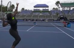 Tennis Trick Shots Serena Williams Dude Perfect