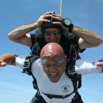 Jason Lama, Sales Trainer at My Nerdy Web Guy, Seen Skydiving