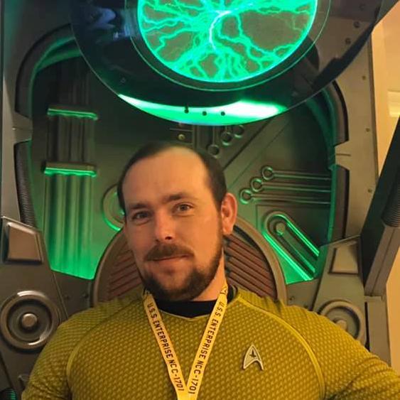 Randy S , Designer at My Nerdy Web Guy, Seen at a Star Trek Convention