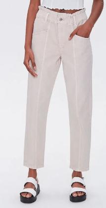 Tan Denim Pants