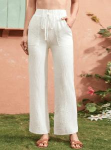 Tie Waist Linen Pants