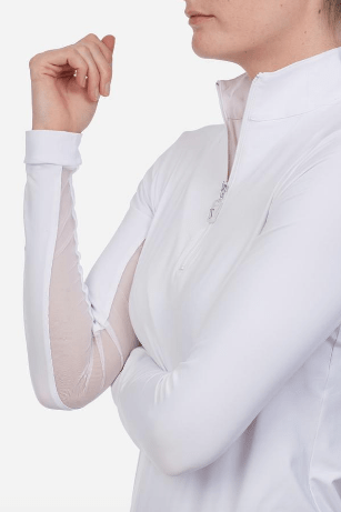 TS white top with white zip