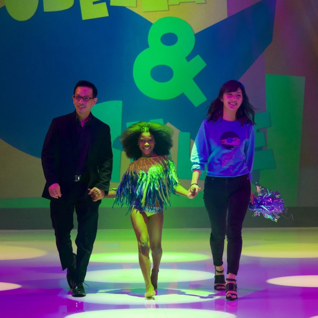 Patrick Yang, Isobella & Chloe owner, with Michelle Kim, winner of Otis Thimble Award.