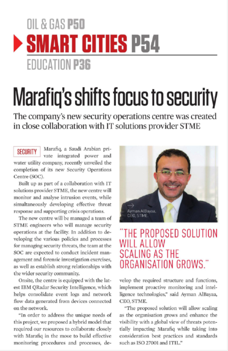 Marafiq's shifts focus to security