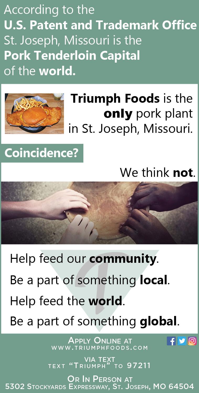 Triumph Foods Ad