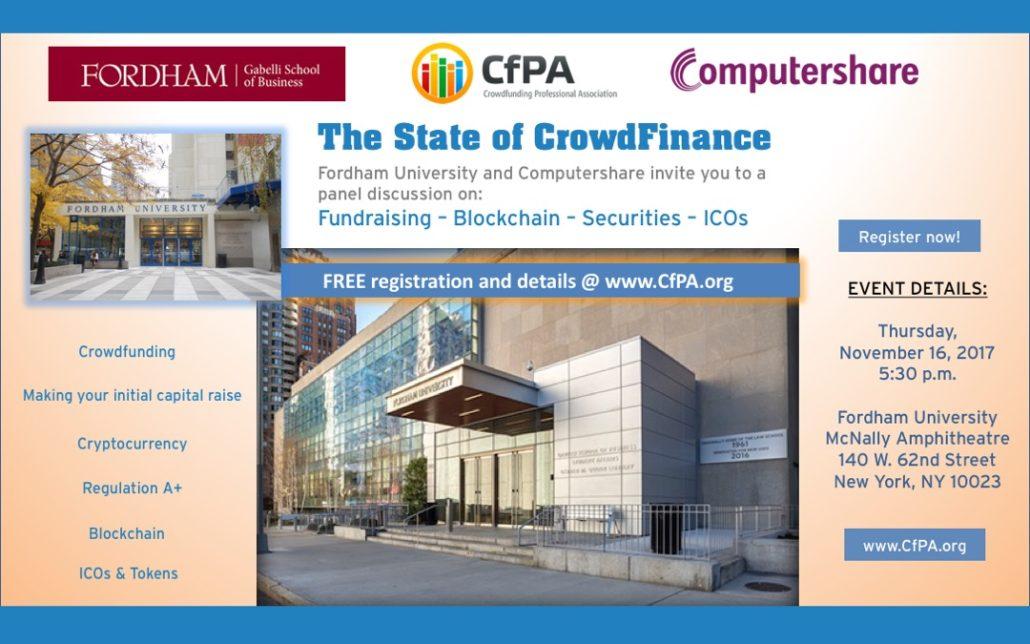 CfPA FREE Forum Nov 16 on W. 62nd