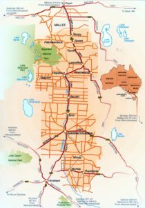 Map of the Wimmera and southern Mallee