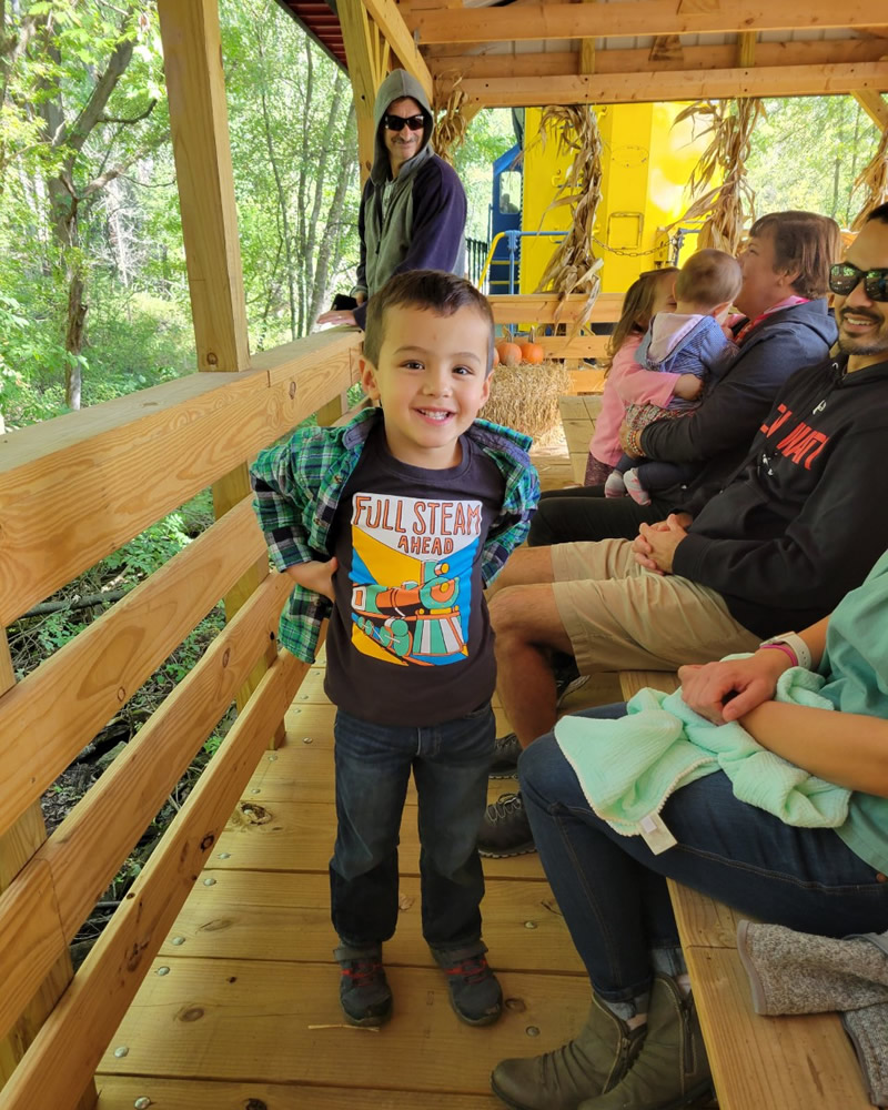 Orrville Railroad Heritage Society Caboose and Pumpkin Hay Rides