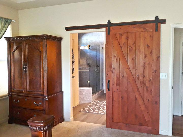 Barn Door Bathroom entry
