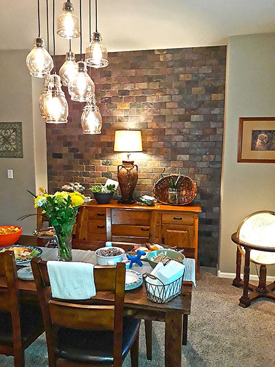 Brick wall in Dinning Room