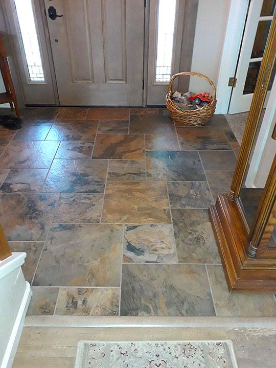 Entry way tiles