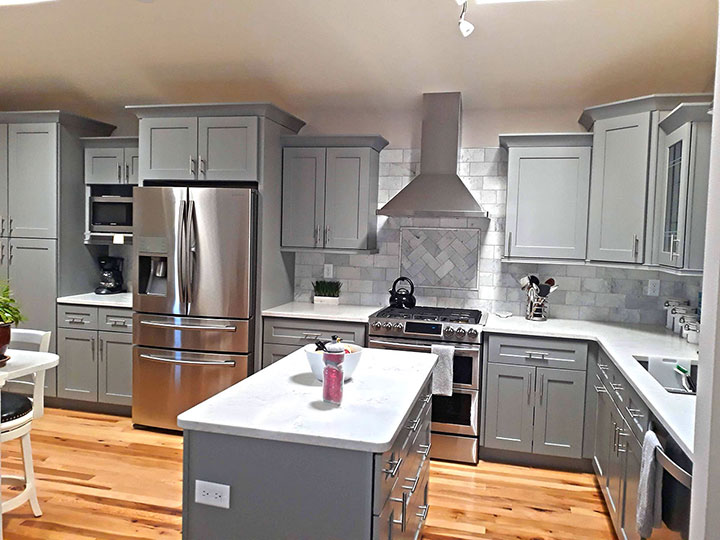 Kitchen Remodel Gray Cabinets