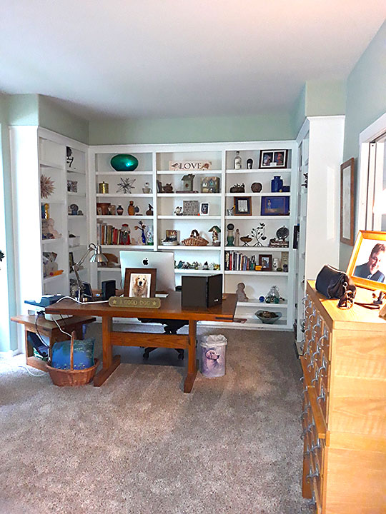 Office with Wall Shelving
