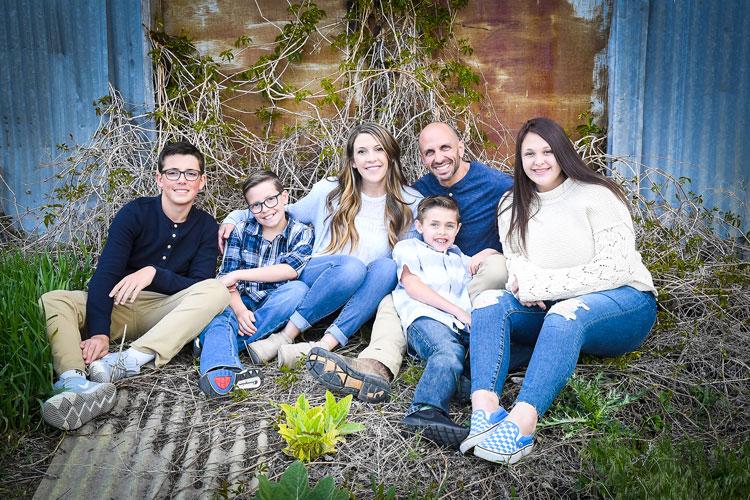 Luke with family
