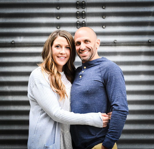 Luke with his wife Sarah McLaughlin