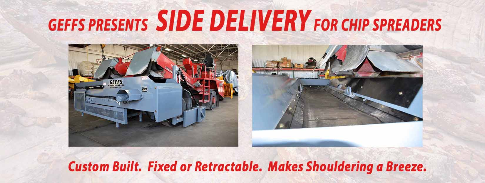 image of GEFFS Chip Spreader Side Delivery Slider