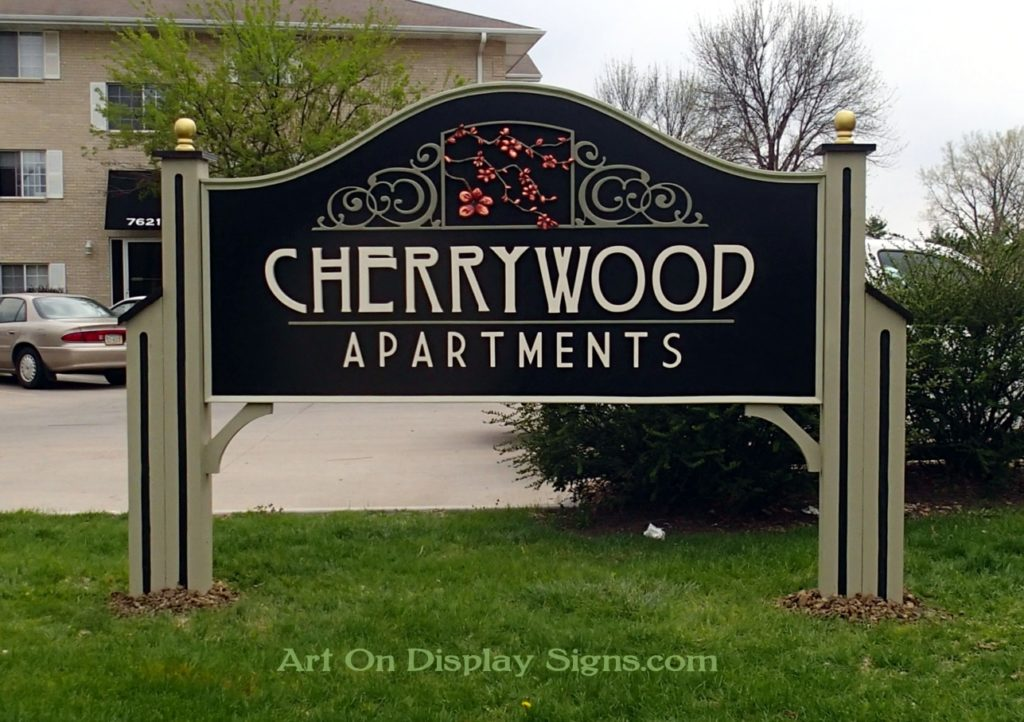Dimensional Sign with Carved Detail