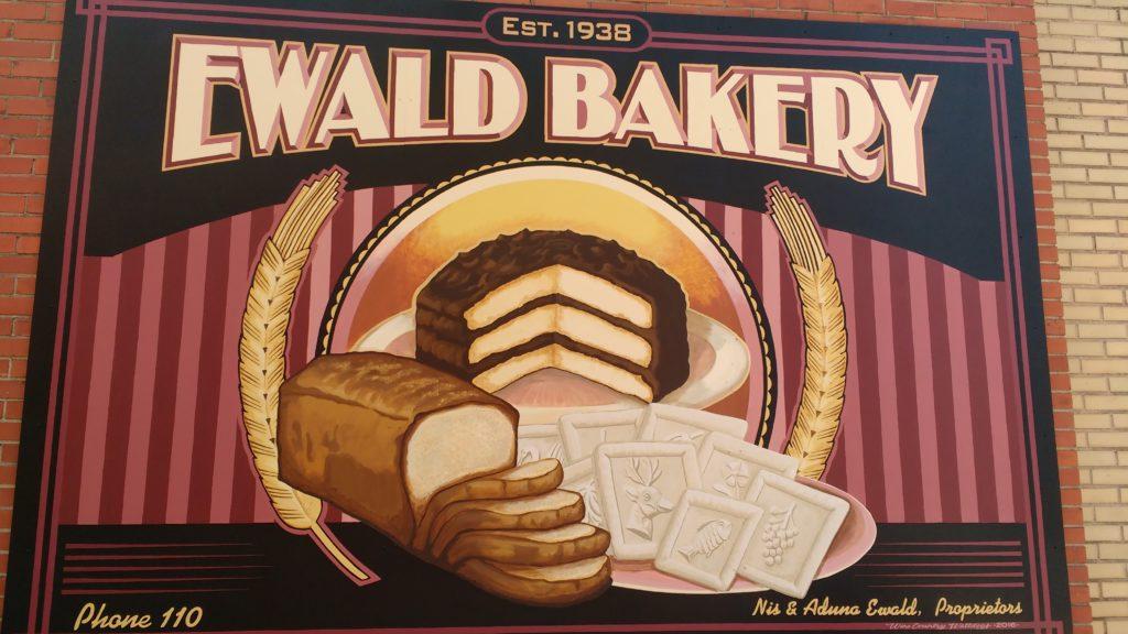 Ewald Bakery: Historical Mural; Hermann, MO