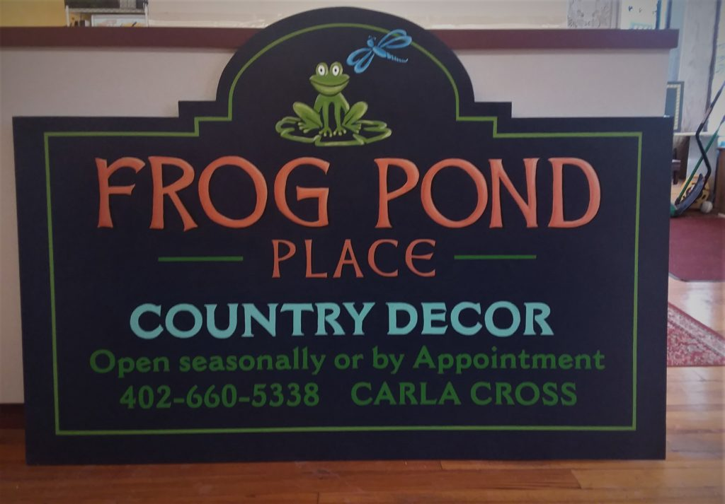 Coordinating Sign for Frog Plnd Place