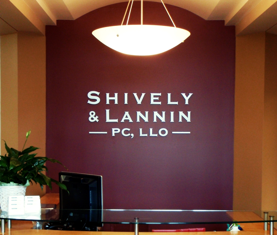 Solid Brushed Aluminum Logo for Reception Wall