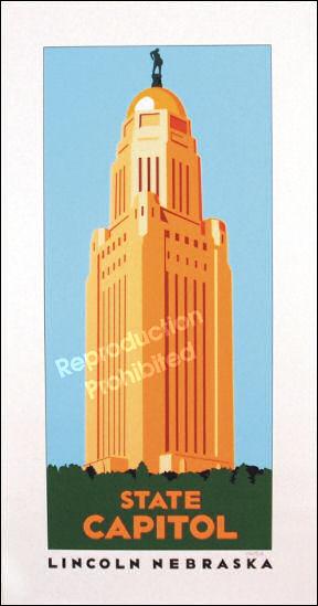 Nebraska State Capitol Landmark Print