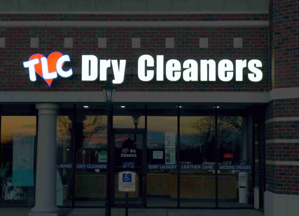 Lighted Signage for TLC Dry Cleaning