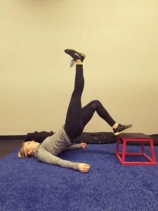 Single Leg Glute Bridge Position 2