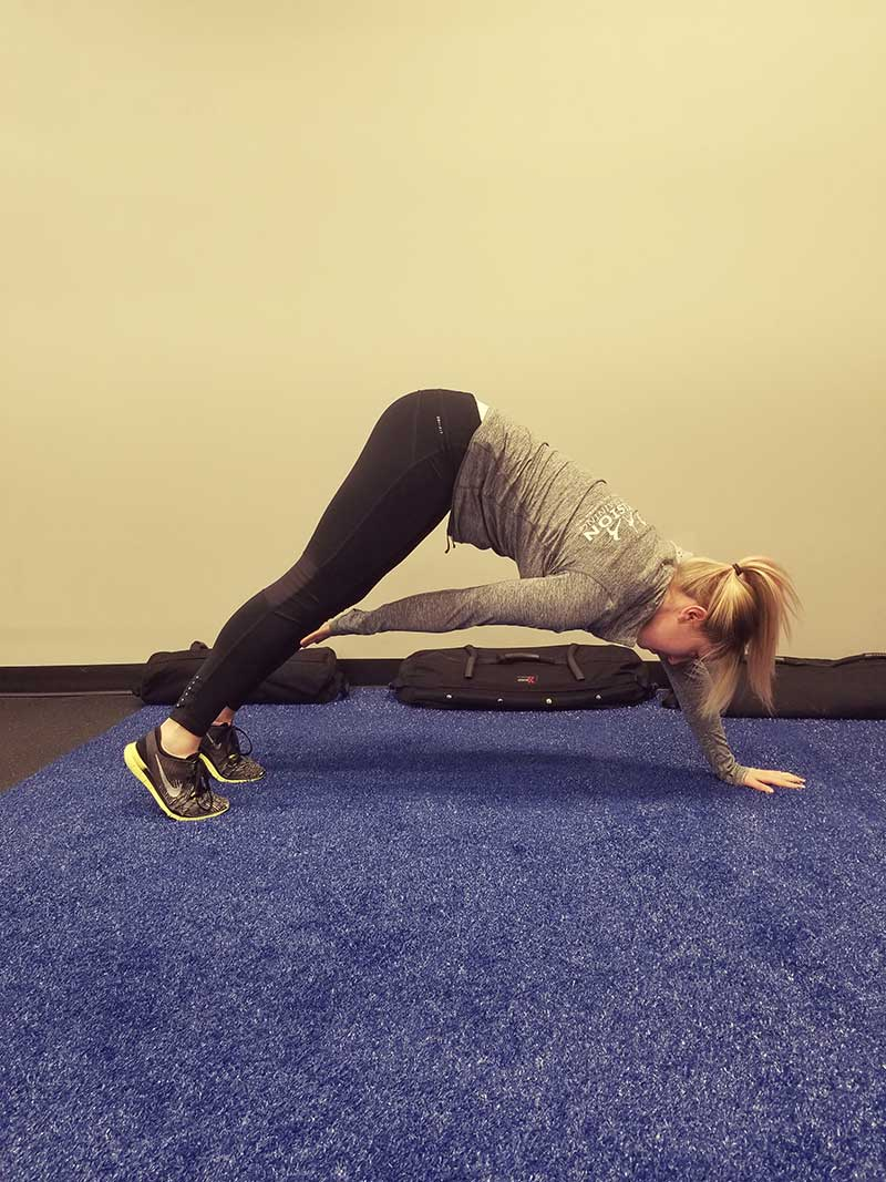 Push-up into Pike Plank Position 2