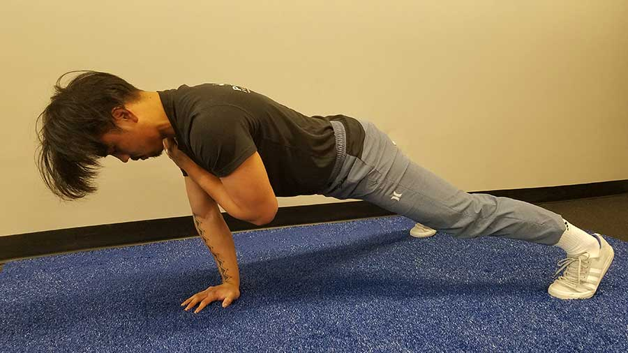 Push Up With Shoulder Tap