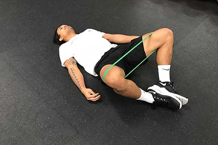 Frog Glute Bridge Position 1