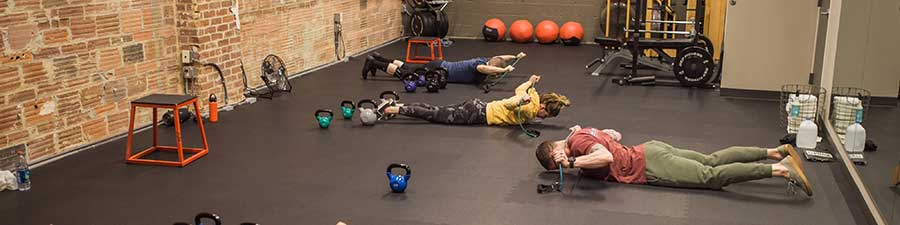 Core work in Vancouver, WA fitness class