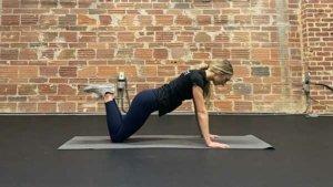 Proper knee push up in upper position