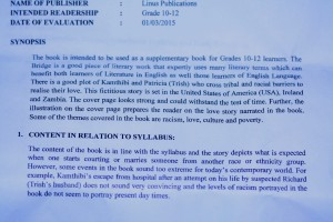 """""""The Bridge"""" Synopsis Content Syllabus by the Curriculum Development Center"""