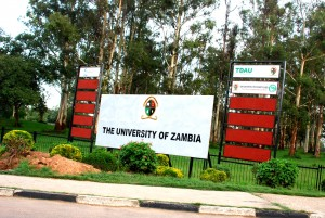 Entrance to the University of Zambia.