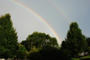 Rainbows are good for a hopeless romantic