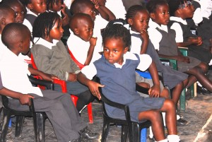 School boys and girls at Bethel private school at Mpika Village of Hope in Mpika in the Northern Province. Comprehensive Gender Based Violence prevention should include all school and other institutions.