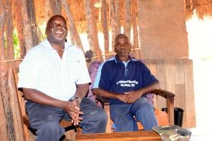 Village Headman Ngobela with Mwizenge Tembo