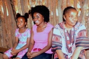 Right to Left Mulenga Kapwepwe, Marita Banda, and Temwani Banda