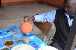 A man drinking munkoyo traditional Zambian brew at Matebeto restaurant in Lusaka that serves traditional Zambian cuisine. This might not be possible if the peace is lost.