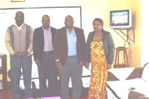 The Headmaster Mr. Mbimbi first left and Teachers at Solwezi Urban Secondary School